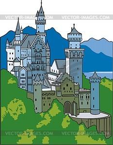 Burg Neuschweinstein - Vektorgrafik
