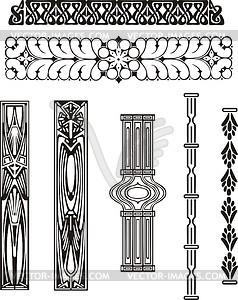 ornamente im jugendstil vector clipart eps. Black Bedroom Furniture Sets. Home Design Ideas
