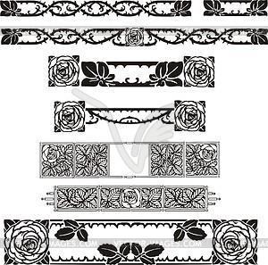 florale ornamente im jugendstil vektor clipart vektor bild. Black Bedroom Furniture Sets. Home Design Ideas
