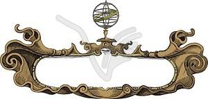 Gravur Rahmen - Stock-Clipart