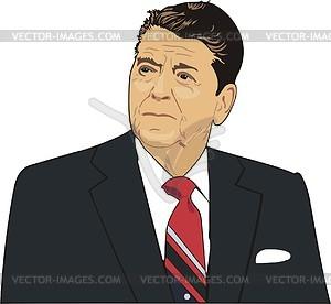 Ronald Reagan - Vektor-Skizze