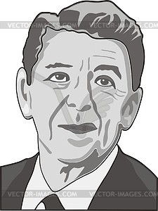Ronald Reagan - Vektor Clip Art