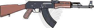 Kalashnikov AK-47 assault rifle - vector clipart