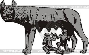 Römischer Wolf - Vektorgrafik