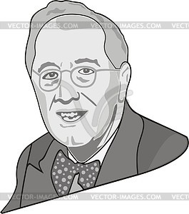 Franklin Roosevelt - vector clipart