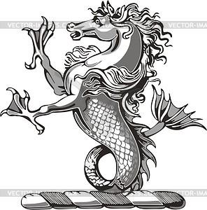 Seepferd Helkleinod - Vektorgrafik