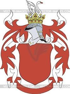 Wappenschild - vektorisierte Abbildung