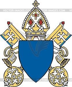 Päpstlicher Schild - Vektorgrafik