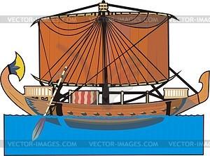 Altägyptische Schiff - Vector-Bild
