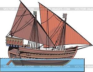 Venezianische Frachtschiff - Vektorgrafik