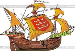 Mittelalterliches Frachtschiff - Vector-Clipart / Vektor-Bild