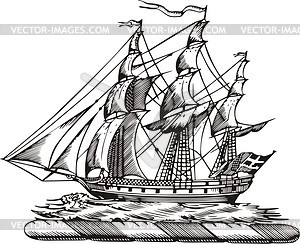 Schiff - Vektor-Abbildung