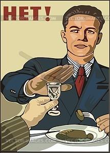 Sowjetisches Plakat - Vektor-Bild