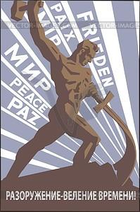 Sowjetisches Plakat - Vektor-Skizze