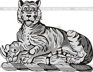 Tiger - Vector-Bild
