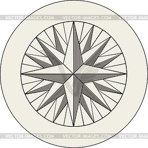Windrose - Vektor-Clipart / Vektor-Bild