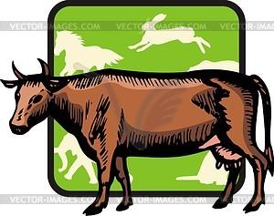 Kuh - Vektor-Bild