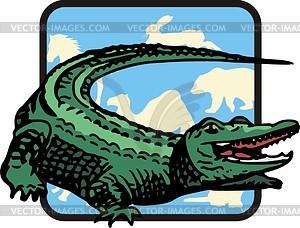 Krokodil - Vector-Clipart