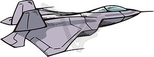 Kampfflugzeuge - Vektorgrafik-Design