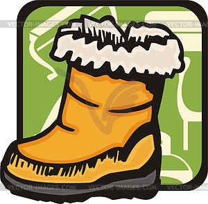 Schuhe für Kinder - Vektorgrafik
