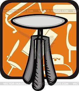 Runder Tisch - Vector-Design