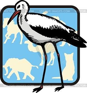 Storch - Vektor Clip Art