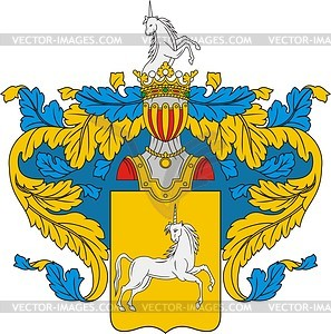 Kudrjavzew, Familienwappen - Vektorgrafik