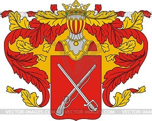 Sergejew, Familienwappen - Vektorgrafik