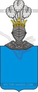 Wappenschild - farbige Vektorgrafik