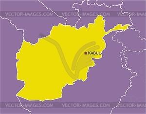 Karte von Afghanistan - Vektorgrafik