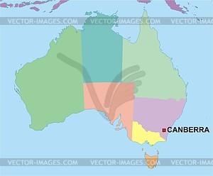 Karte von Australien - vektorisierte Abbildung