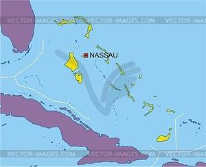 Karte von Bahamas - Vektorgrafik