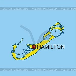 Karte von Bermuda Inseln - Vektorgrafik