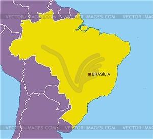 Karte von Brasilien - Vector-Clipart EPS