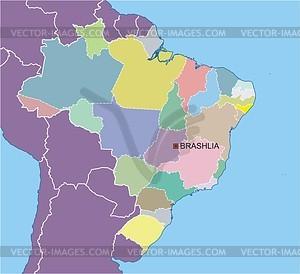 Karte von Brasilien - Vector-Clipart / Vektor-Bild