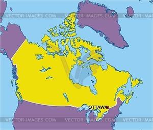 Karte von Kanada - vektorisiertes Bild