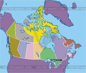 Karte von Kanada - vektorisiertes Design