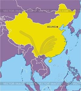 Karte von China - Vector-Abbildung