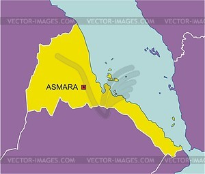 Karte von Eritrea - Vektorgrafik