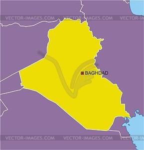 Karte von Irak - Vektorgrafik