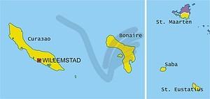 Karte von Niederländische Antillen - Vektorgrafik