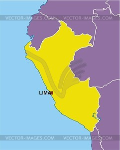 Peru map - vector clipart