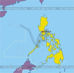 Philippines map - vector clipart
