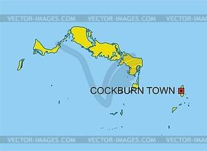Karte von Turks- und Caicosinseln - Vektorgrafik