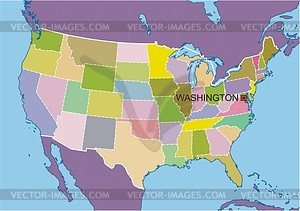 Karte der USA - Clipart