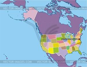 Karte der USA - Clipart-Bild