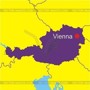 Österreich-Karte - Vektorgrafik