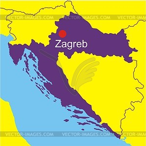 Karte von Kroatien - Vektorgrafik