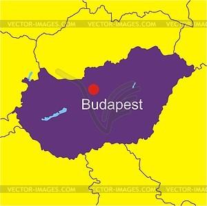 Karte von Ungarn - Vektorgrafik-Design
