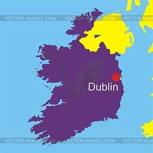 Karte von Irland - Vektorgrafik